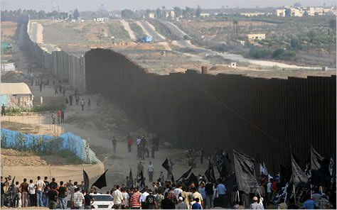 The wall separating Gaza.