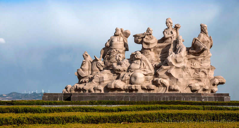 Statue of the 8 Immortals, in China.