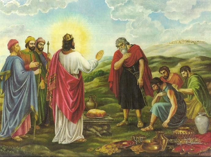 Melchizedek greeting Abraham