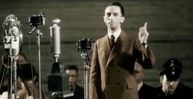 Joseph Goebbels, Reich Minister of Propaganda. Has this dude reincarnated as....